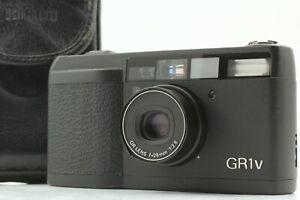 【NEAR MINT w/ Case】 Ricoh GR-1V Black Point & Shoot  Film Camera from JAPAN