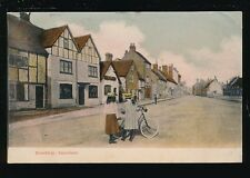 Bucks Buckinghamshire AMERSHAM Broodway Edwardian girls & bicycle 1904 PPC