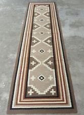 Southwestern Navajo Kilim Dhurry Handmade Rug Wool Large Kelim Rug Runner 3x10