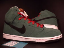 Nike Dunk High Pro SB BEER BOTTLE FOREST GREEN BLACK WHITE RED 305050-300 DS 6