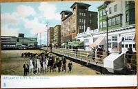 1908 Raphael Tuck  Postcard: On the Sand/Beach - Atlantic City, New Jersey NJ