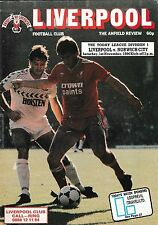 Football Programme>LIVERPOOL v NORWICH CITY Nov 1986