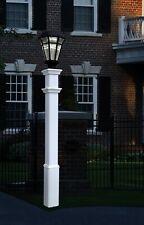 "Decorative Vinyl Outdoor 74"" STURBRIDGE Lamp Post Pole w/20 Year Warranty!"