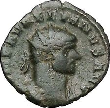 Aurelian receiving globe from Jupiter Ancient Roman Coin Jupiter Cult  i41098