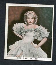 1934 Marlene Dietrich Bergmann Color Movie Picture Cigarette Tobacco Card #23