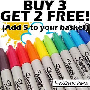 Sharpie Colour Pens Permanent Marker Fine Point Write Doodling Artwork Kids UK