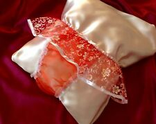 """Shimmery Red Organza Sissy Tanga  Knickers  26""""- 46"""""""