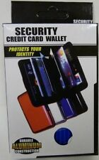 Security Wallet Accordian Seen on tv security wallet Black aluminum photo holder