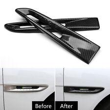 2 X Real Carbon Fiber Car Front Fender Canard Strip For Jaguar F-PACE XE XFL XF