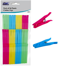 36 x HEAVY DUTY Large PLASTIC CLOTHES PEGS Strong Washing Line/Airer Hanger Clip
