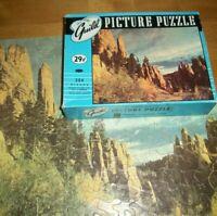 Vintage Guild Jigsaw Puzzle Needles Black Hills South Dakota 304 Pcs Complete