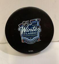 GAME USED WARMUP PUCK 2016 Winter Classic Foxboro BOSTON BRUINS