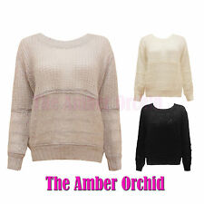 Acrylic Long Sleeve Boat Neck Hip Length Women's Jumpers & Cardigans