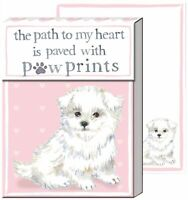 Punch Studio Puppy Paw Print Pocket Note Pad One Size