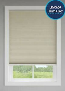 LEVOLOR Trim+Go 36-in x 72-in Sand Light Filtering Cordless Cellular Shade