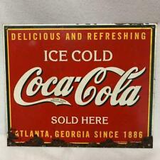 Coca-Cola Antique Sign Vintage Rare