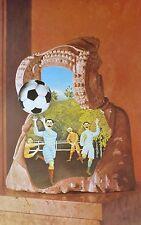 JIRI KOLAR Copa del Mundo de futbol 1982 HAND SIGNED Lithograph Czech Artist