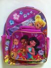 """Backpack 16"""" + Detachable Lunch Bag Snack Tote TINKERBELL Fairies NEW"""