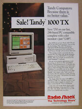 1987 Tandy 1000TX 1000-TX 286 PC Computer photo Radio Shack vintage print Ad