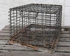 Kellerfund Stabile Stapelbox große Transport Gitter Box Draht Korb mit Deckel