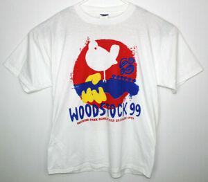 Vtg Authentic Woodstock 99 Rock Festival Concert Short Sleeve T-Shirt Size XL