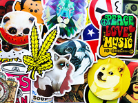 100 Sticker Bomb For Skateboard Laptop Cars Guitar Memes Music Animals Decals