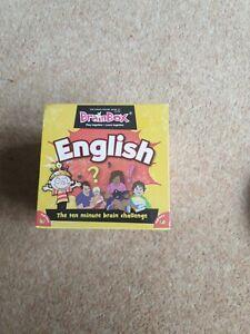 BrainBox English Card Game 10 minute Brain Challenge Brand new age 7+