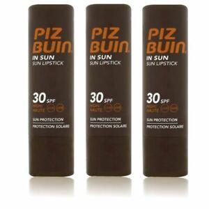 Piz Buin in Sun Lipstick SPF 30 High 4.9g - 3 pack