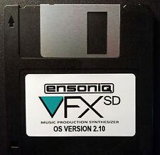Ensoniq VFX SD Sequencer Operating System Disk v 2.10 OS boot VFXSD - 75 Sold