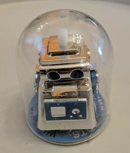 2016 Aeromax Toys BNB Bump N Bots No Fall Wind-Up Robot Blue and Silver