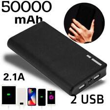 USA 50000mah Portable Power Bank LCD LED 2 USB Battery Charger For Mobile Phone