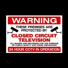 CCTV 'WARNING THESE PREMISES ARE PROTECTED' PLASTIC RIGID SIGN 150 x 210mm