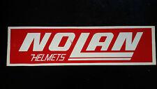 Adesivo Sticker NOLAN Helmets  cm 30 x 7,5 circa