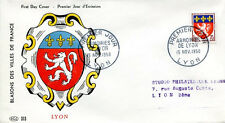 FRANCE FDC - 272 1181 1 ARMOIRIES - LYON 15 11 1958