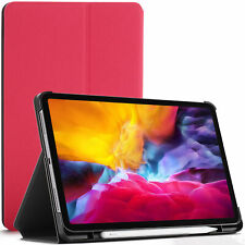 Apple iPad Pro 11 2020 Case, Smart Cover - Pink + Stylus Screen Protector