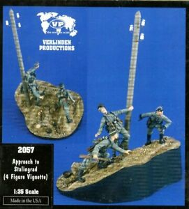Verlinden Productions 1:35 Approach to Stalingrad - 4 Resin Figures Kit #2057
