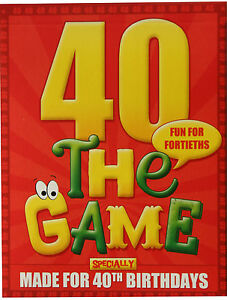 40th BIRTHDAY GIFT IDEA. Novelty 40th game! FREE shipping plus FREE gift wrap