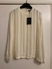 Bruce By Bruce Oldfield Pleat Blouse Size 12 BNWT RRP £69