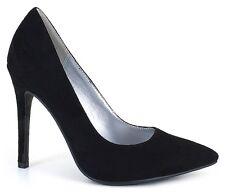 Size12M Black Suede High Heel Pump/Stiletto Pointed Toe Drag Queen/Cross Dresser
