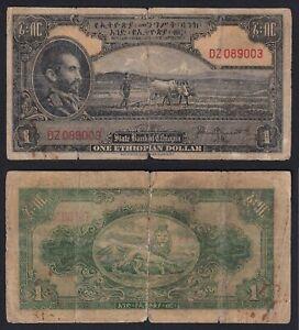 Etiopia 1 dollar 1945 MB/F  A-01