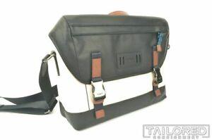 NEW  COACH Ranger White Black Leather Mountaineering Details Messenger Bag 91239