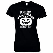 Halloween Costumes Women Scary Horror T-Shirt Always Halloween