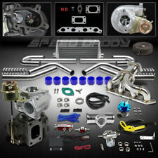 T25 10PC TURBO KIT+MANIFOLD+INTERCOOLER 89-93 TOYOTA CELICA 88-97 COROLLA 4A-FE