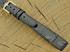 Hirsch NOS Vintage Unused Leather with Gold Tone Buckle Watch Band 12mm Ladies