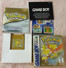Pokemon Gold for Game Boy Color - Complete in Box with BRAND NEW Save Battery