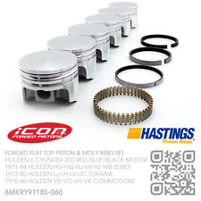 "202+060"" FORGED PISTON & MOLY RING SET 6 CYL MOTOR [HOLDEN HG-HQ-HJ-HX-HZ-WB]"