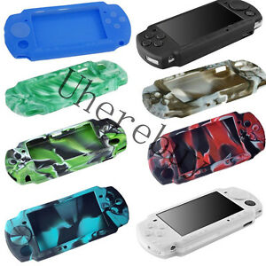 Silicone Protective Rubber Skin Case Cover For Sony PSP 2000 3000 US FAST