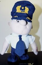 "Daron Walking Pilot Doll 10"" Toy Battery Plush Doll Airline Pilot Uniform & Tie"