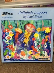 Puzzle Jelly Fish Lagoon by Paul Brent Suitable for Framing Puzzle 1000 pieces