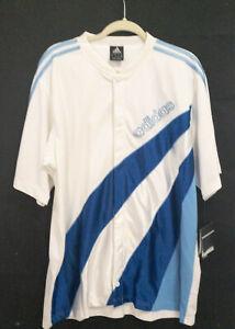 Adidas Basketball Warm Up Jersey Jacket Short Sleeve Blue White Size L NWT